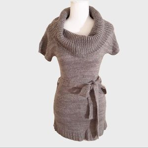 Sweater Project gray knitted midi dress Sm…